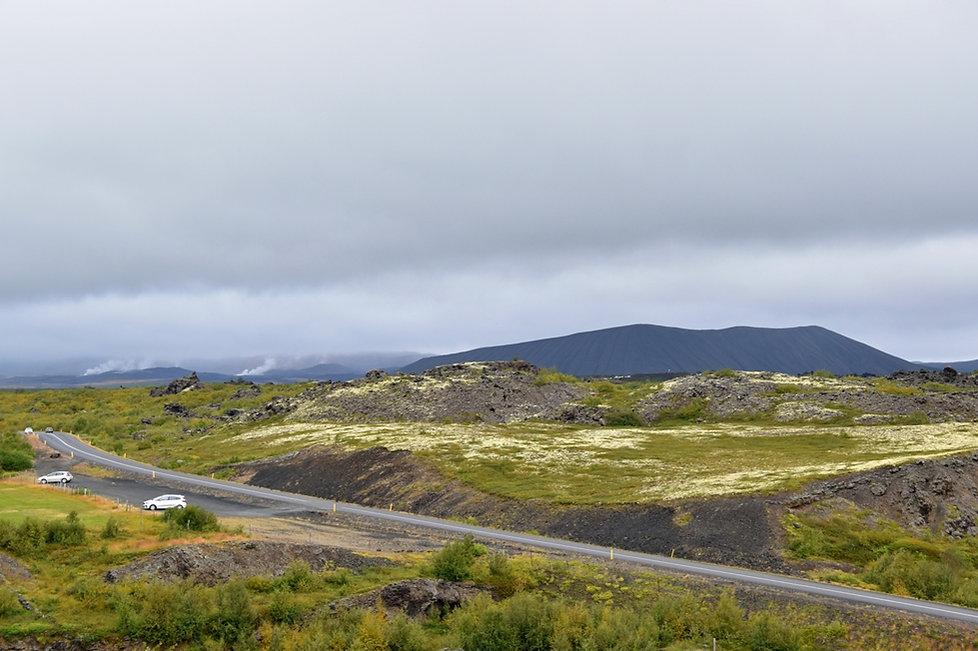 Islande Iceland Lac Myvatn Hverfjall volcan