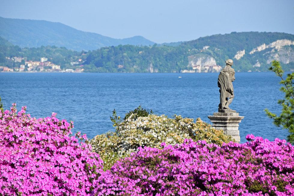 Italie Lac Majeur Isola Bella jardin azalées fleurs