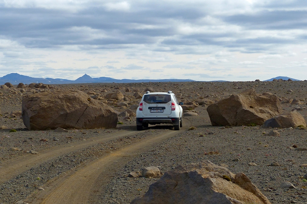 islande piste lac Hvítárvatn duster rochers désert