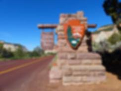 Zion National Park entrée panneau