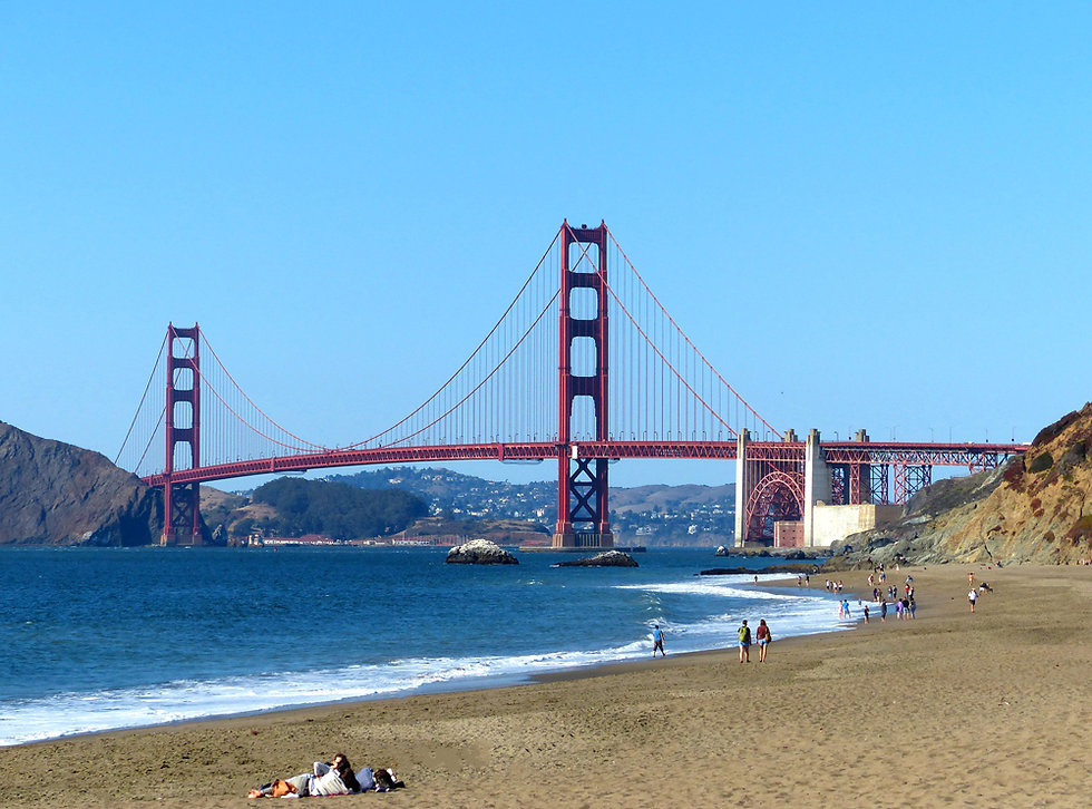 San Francisco Baker Beach Golden Gate Bridge