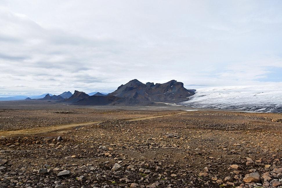 Islande piste F336 glacier Langjökull