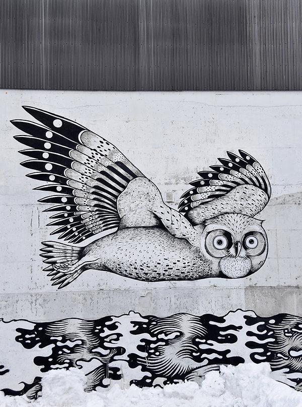 Norvège - Tromsø - fresque