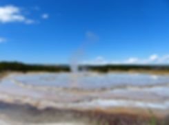 Yellowstone National Park Firehole Lake Drive Great Founain Geyser