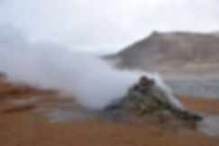 Islande Iceland Myvatn Hverir géothermique Namafjall fumerolle  soufre solfatare