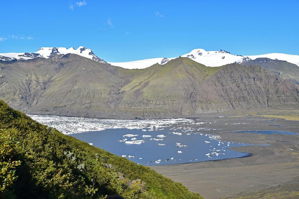 Skaftafellsjökull glacier lac proglaciaire islande iceland skaftafell