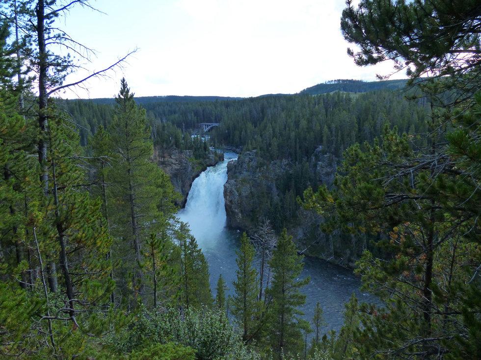 Yellowstone National Park Canyon Upper Falls Viewpoint