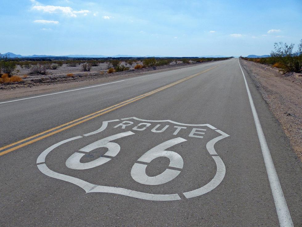 Desert mojave route 66 signe