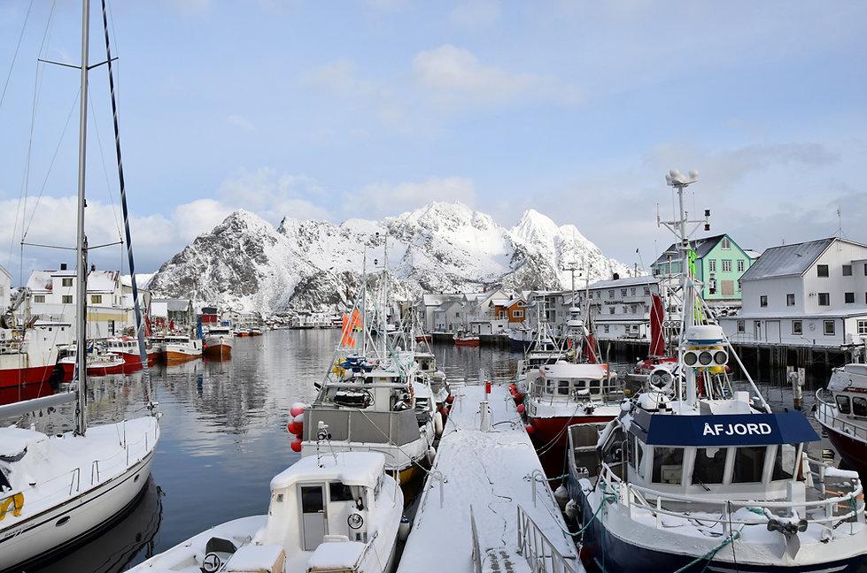 Norvège - Henningsvær - port