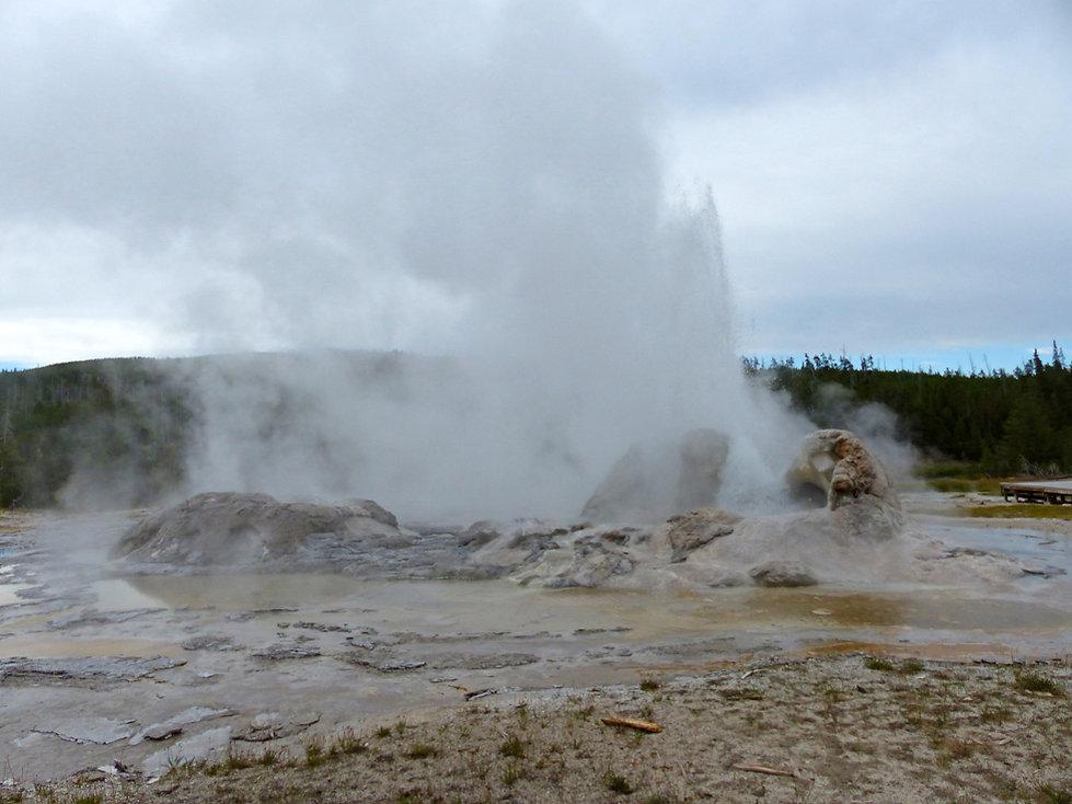 Yellowstone National Park Upper Geyser Basin Grotto Geyser