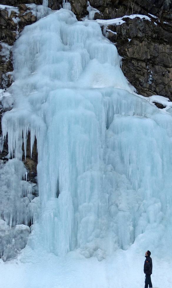 Norvège - Route E8 - cascade de glace