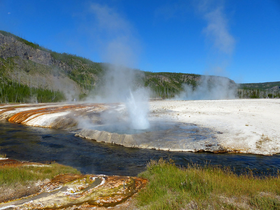 Yellowstone National Park Black Sand Basin Cliff Geyser