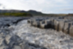 Islande piste F550 rivière Geitá colonnes basaltes