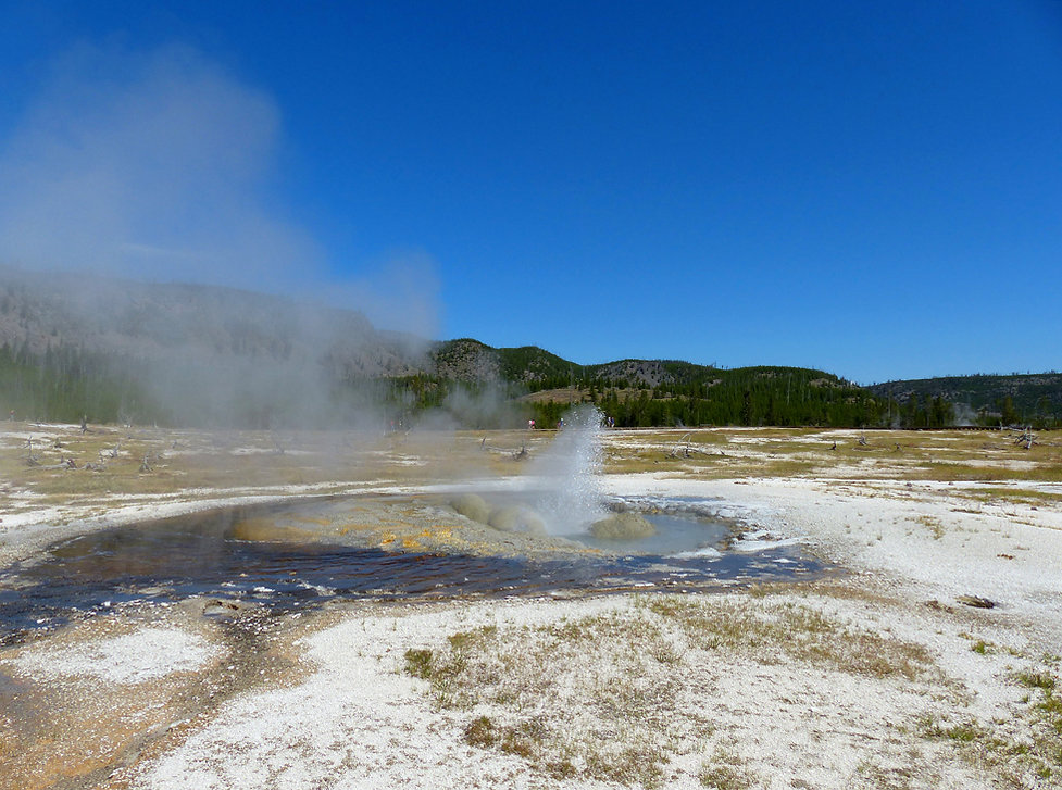 Yellowstone National Park Biscuit Basin Jewel Geyser