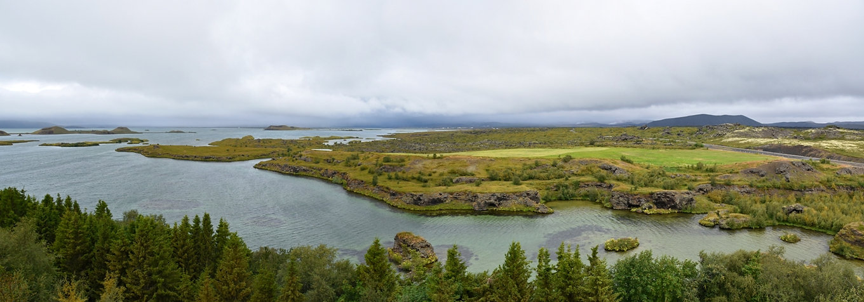 Islande Iceland Lac Myvatn Höfdi  panorama