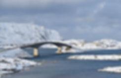 Norvège - Lofoten - Flakstadøya - Fredvang - ponts