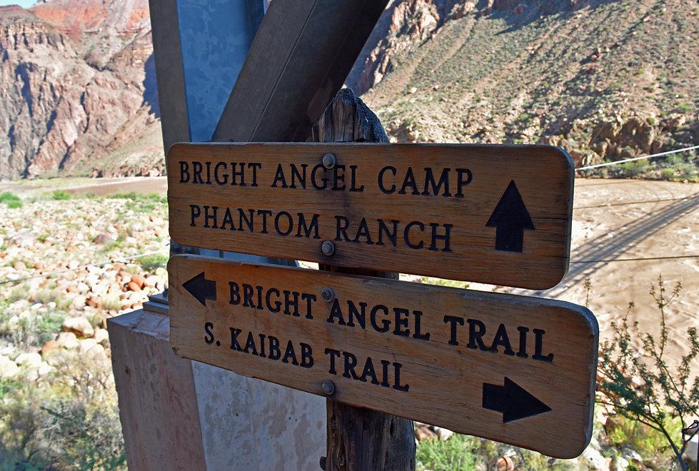Arizona - Grand Canyon National Park - Bright Angel Trail - panneaux
