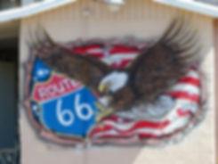Seligman route 66 fresque
