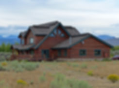 Wyoming maison rondin bois