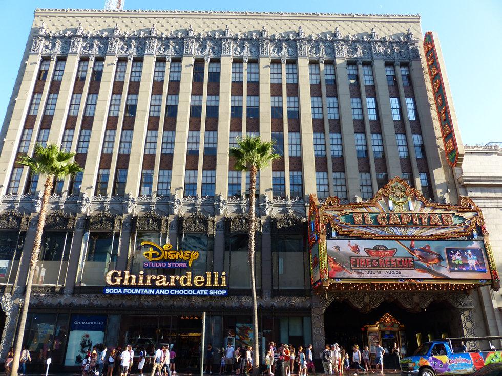 Hollywood Boulevard El Capitan Theater Ghirardelli