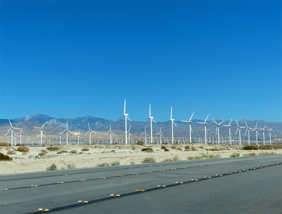 palm springs éoliennes