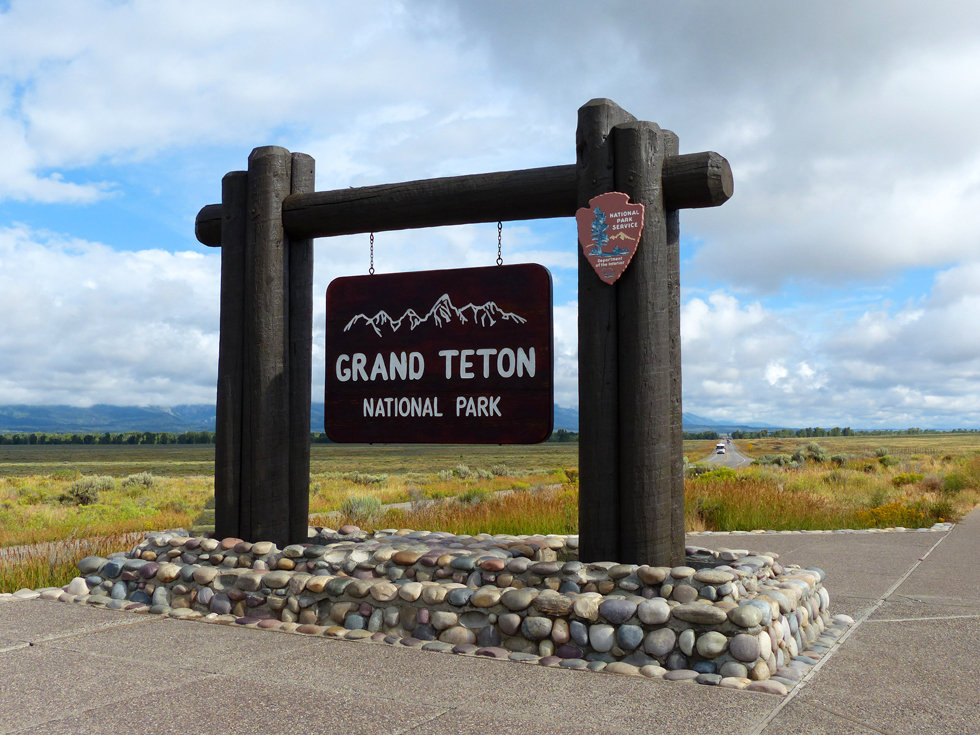 Grand Teton National Park panneau