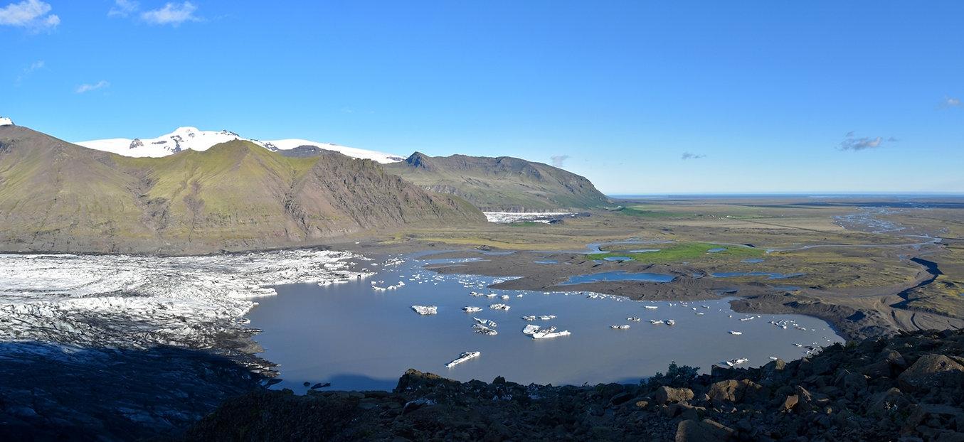 sjónarnípa skaftafell Skaftafellsjökull islande iceland 2017
