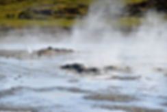 Islande zone géothermique Hveravellir source chaude geyser