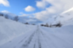 Norvège - Kvaløya - route 862 - hiver