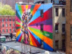 New-York - High Line - fresque - Eduardo Kobra