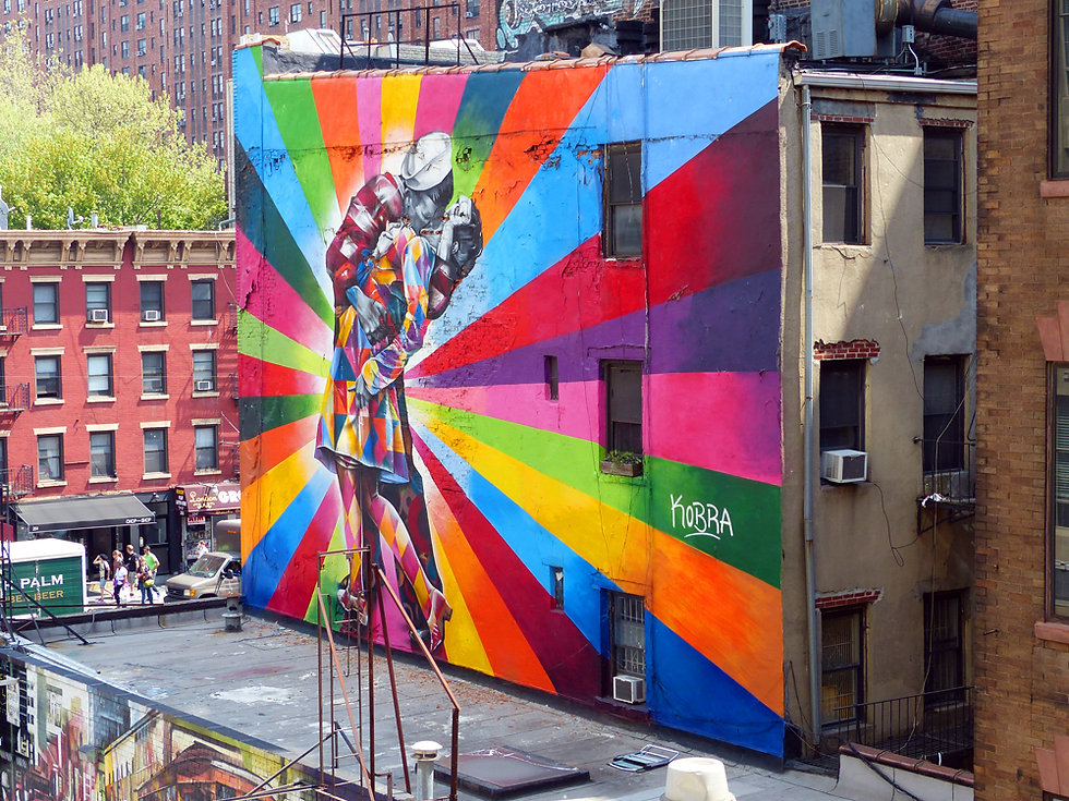 New-York - High Line - fresque - Eduardo Kobra