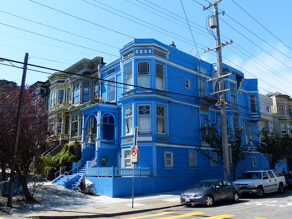San Francisco - Haight Ashbury - maison bleue