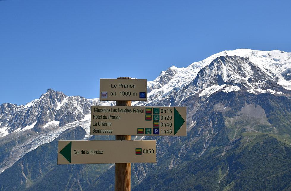 Chamonix - les Houches - randonnée - prarion
