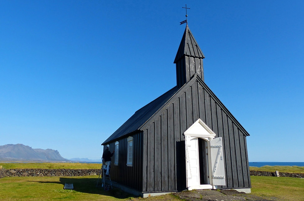 Islande péninsule Snaefellsnes église bois Búdakirkja
