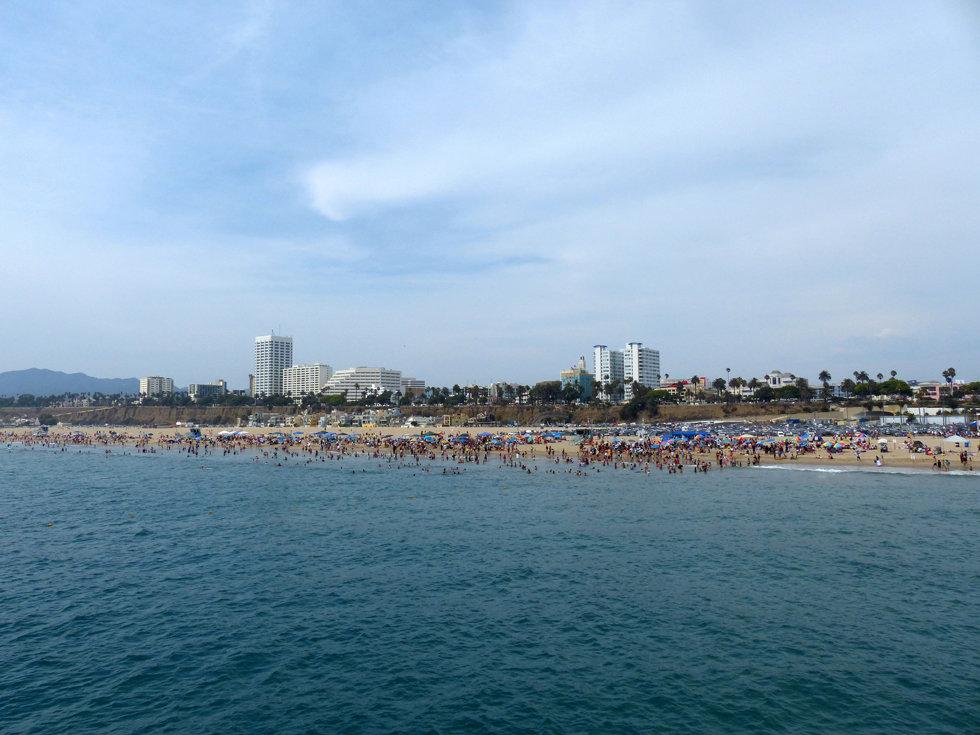 Los Angeles Santa Monica pier beach