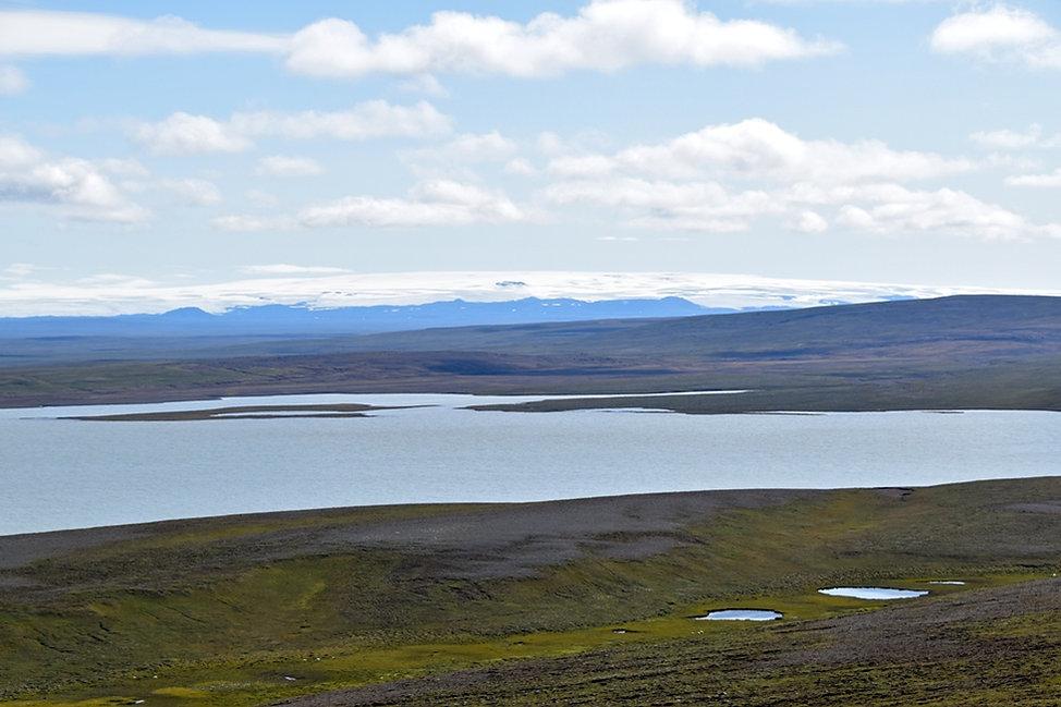 Islande piste F35 glacier Hofsjökull lac Blöndulón