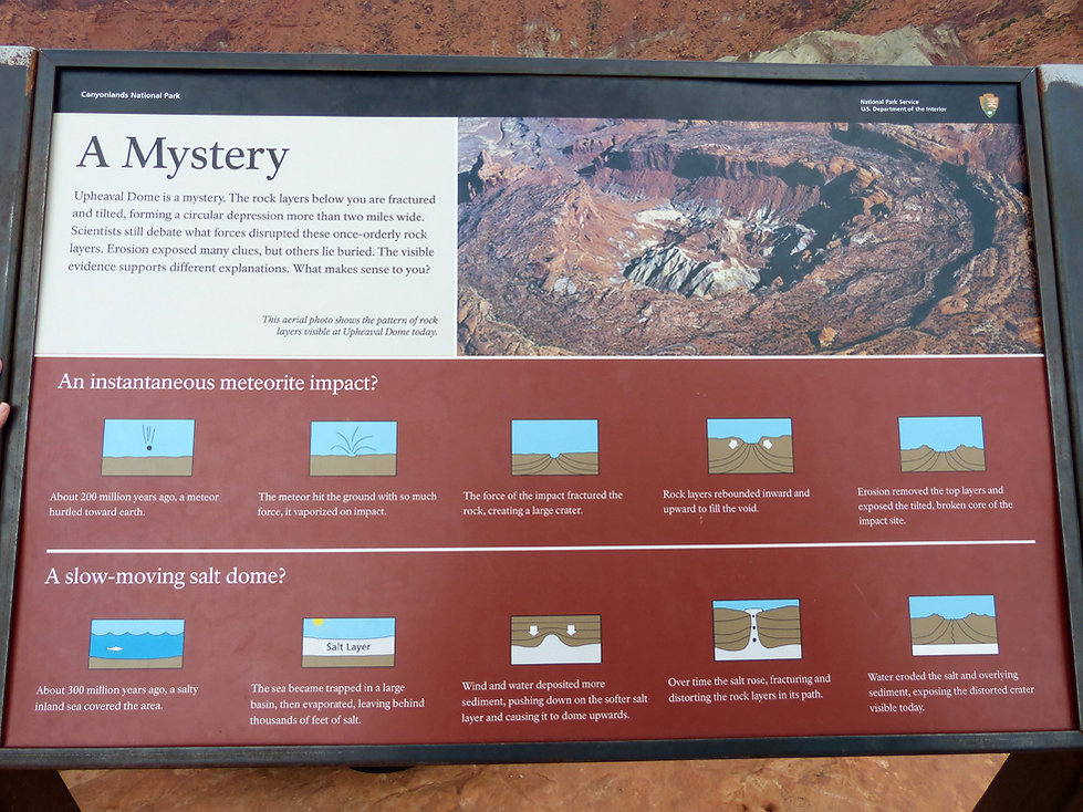 Canyonland National Park Upheaval Dome