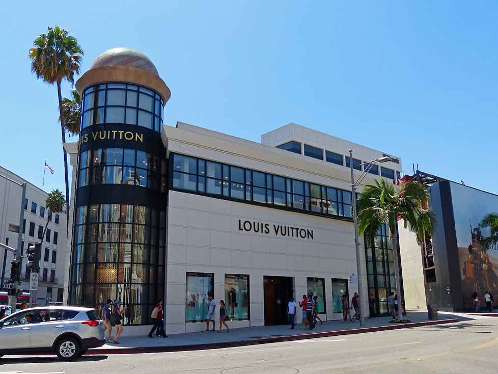 Los Angeles Beverly Hills rodeo drive vuitton