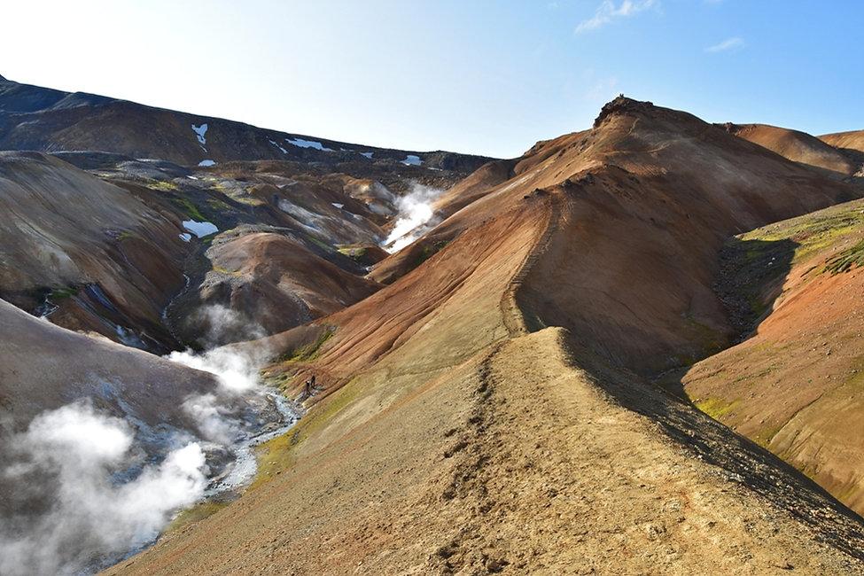 Islande massif Kerlingarfjöll chemin