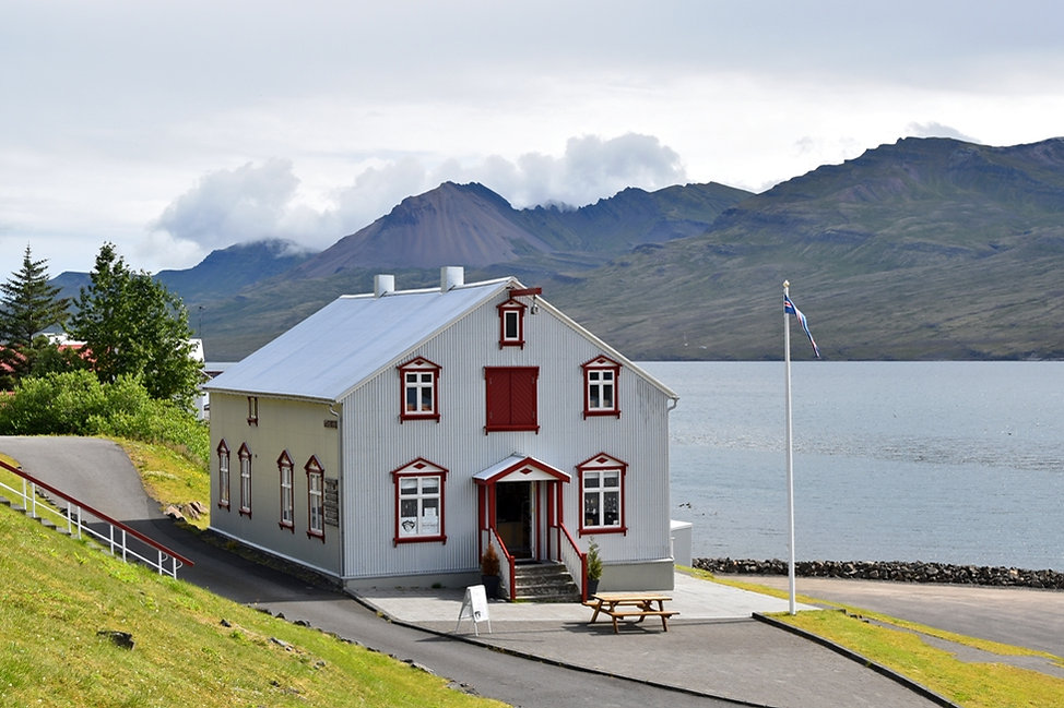 Fáskrúdsfjördur fjord est east islande iceland maison house
