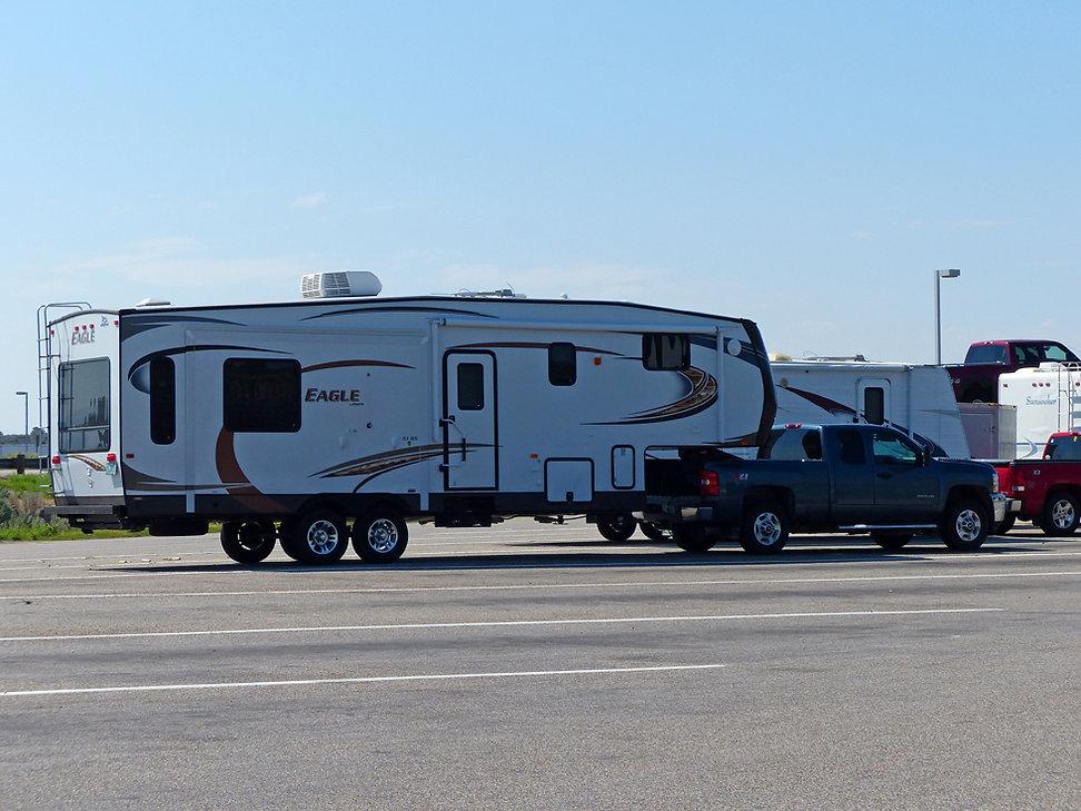 caravane américaine pick-up