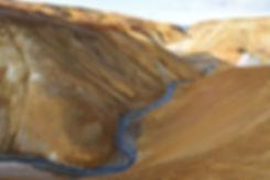 Islande massif Kerlingarfjöll rivière bleu
