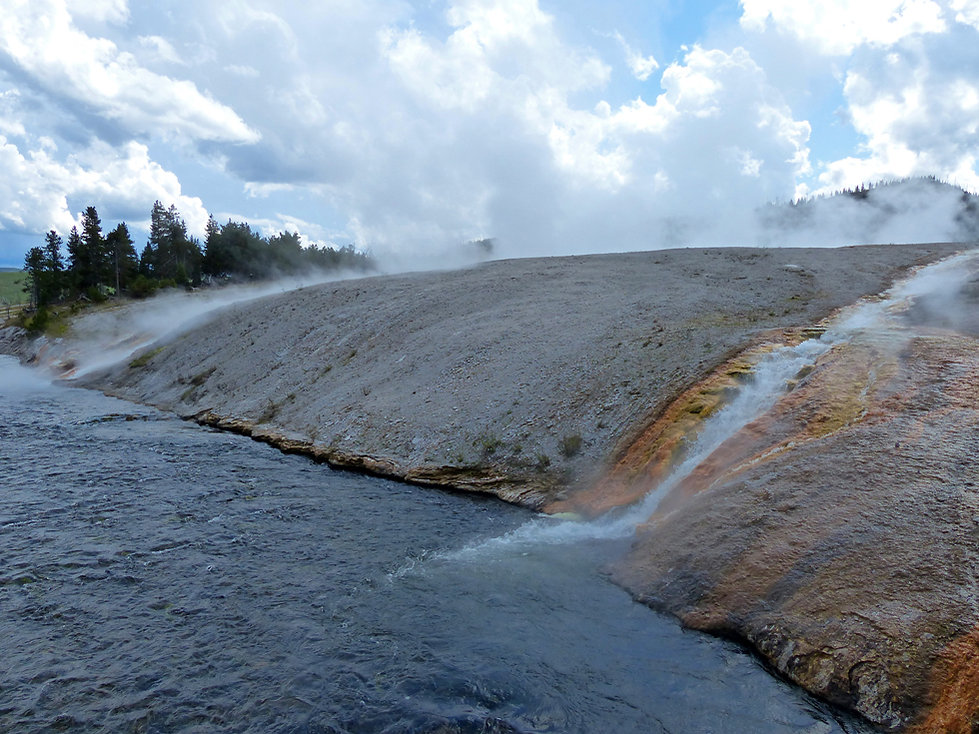 Yellowstone National Park Midway Geyser Basin Excelsior Geyser