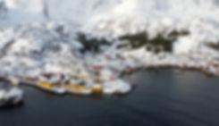 Norvège - Lofoten - Flakstadøya - Nusfjord - drone