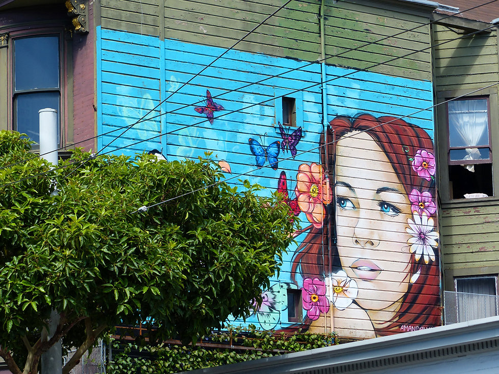 San Francisco - Haight Ashbury - fresque