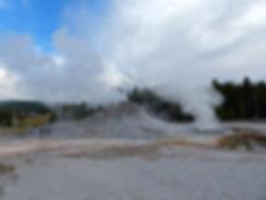 Yellowstone National Park Upper Geyser Basin Castle Geyser