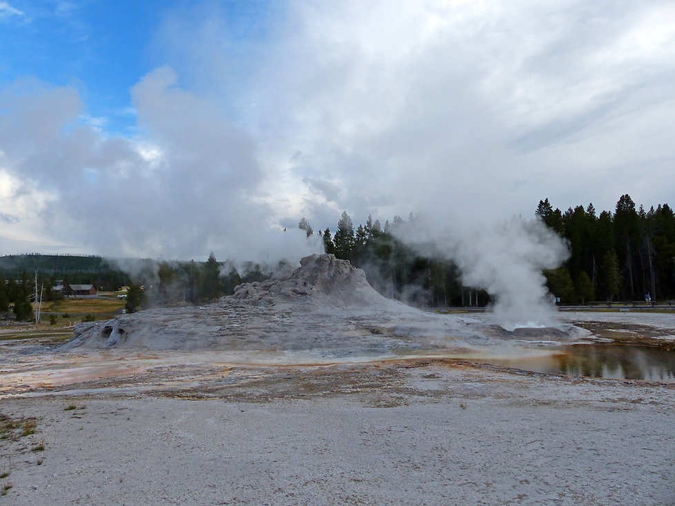Yellowstone National Park Upper Geyser Basin Castle Geyser