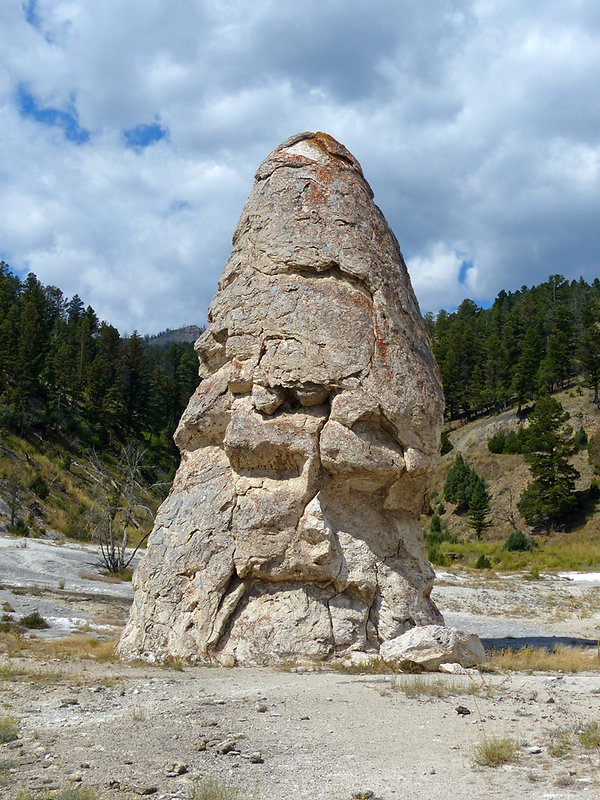 Yellowstone National Parc Mammoth Hot Spring Liberty Cap