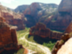 Zion National Park Angels Landing scoot lookout