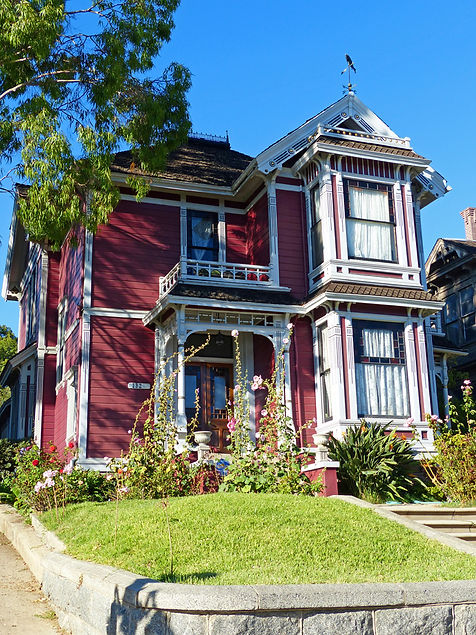 Los Angeles Caroll Avenue maison victorienne serie Charmed